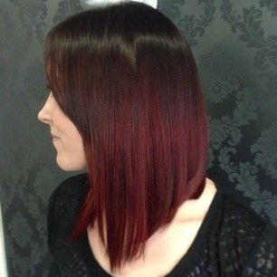 red ombre | hair | pinterest | ombré hair, bobs und liebe, Hause ideen