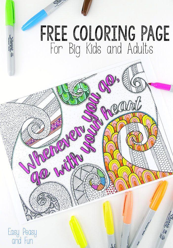 Free Coloring Page for Adults   Mandalas, Colorear y Páginas para ...