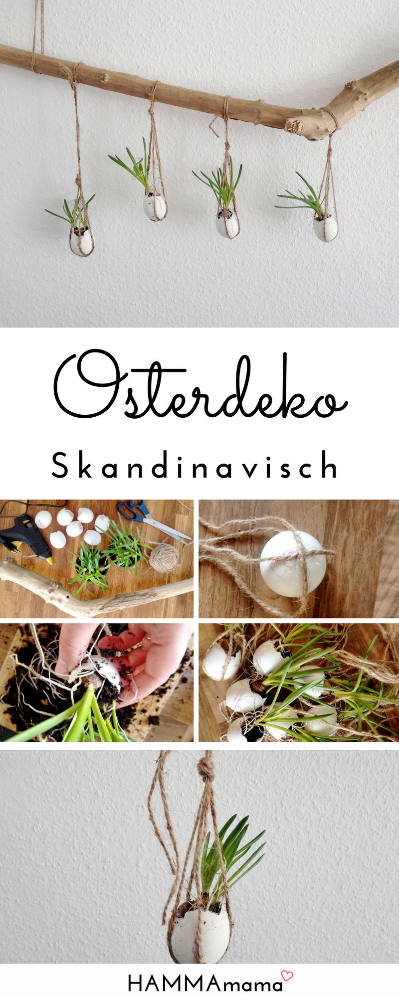 Photo of Make DIY decoration branch for Easter yourself: Scandinavian minimalist with flowers