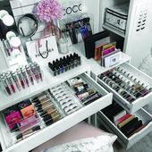 Terrific vanity x Make-up nur auf alexadecor.com   – Diy Kosmetik Aufbewahrung -…