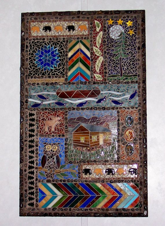 Mosaic PanelStained Glass/ Mixed by LowBridgeArtworks on Etsy, $350.00