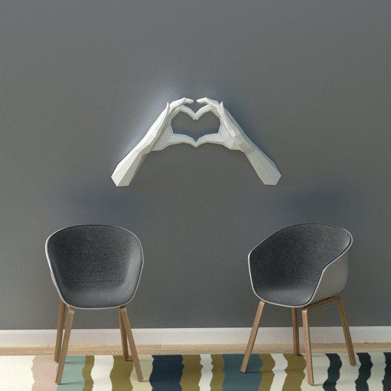 Photo of PDF Papercraft Hands, Heart Hands, Declaración de amor, DIY Wedding Decor, Día de San Valentín, Origami Heart Hands, Te amo, 1er aniversario