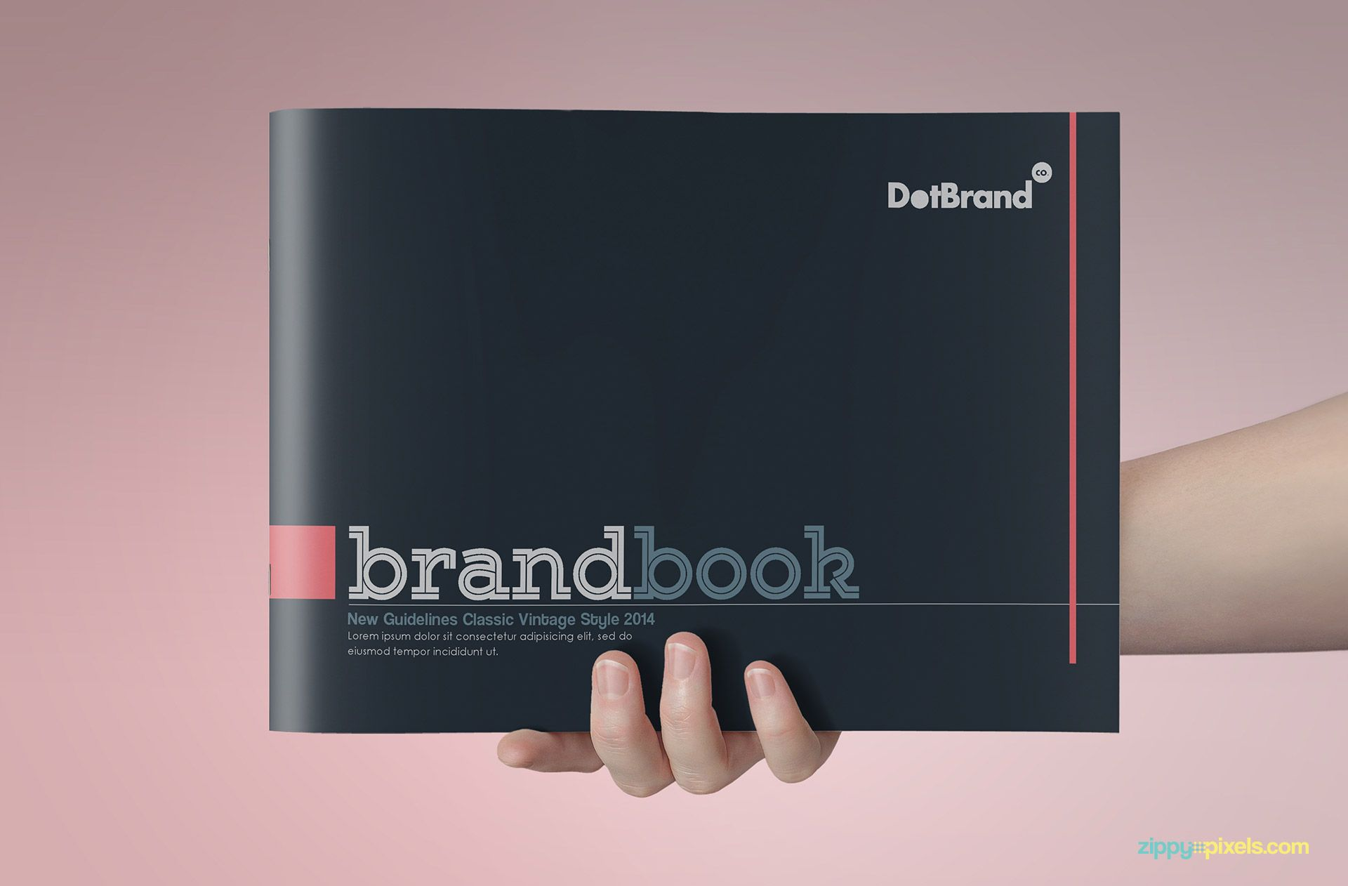 A classic version of brand book template for your brand and ...