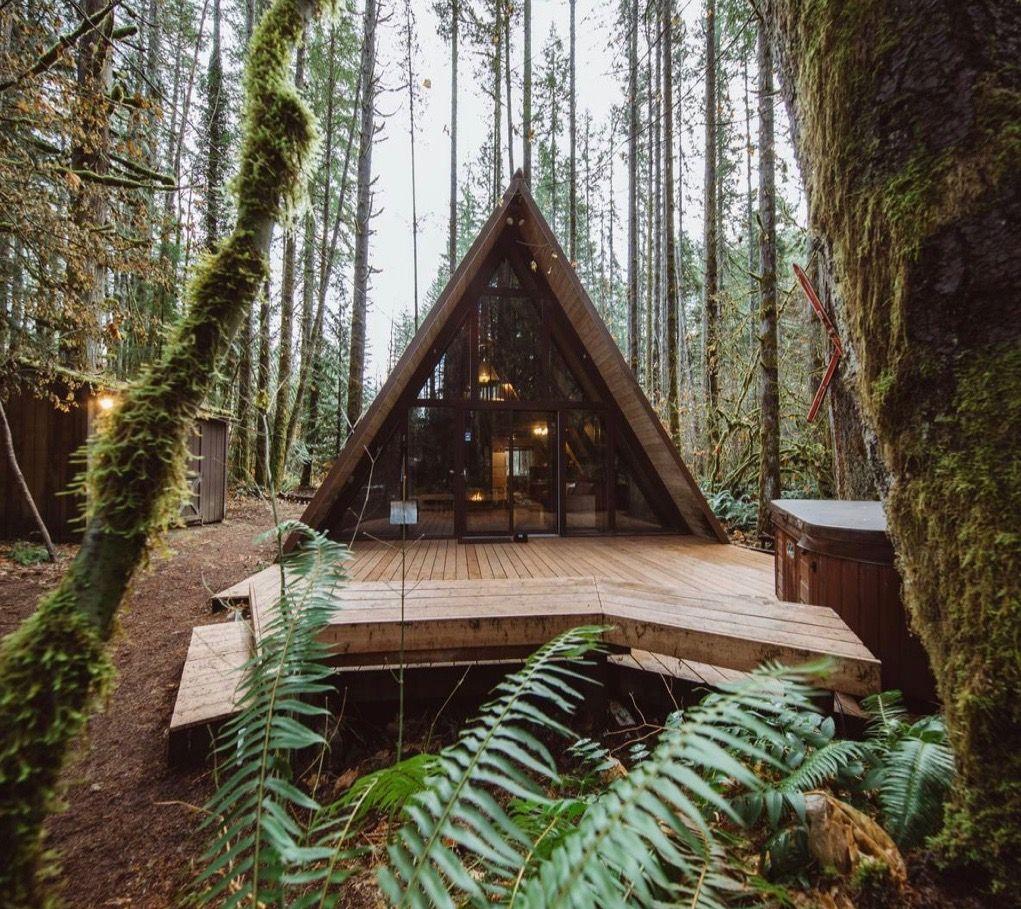 Modern A Frame Beautiful Cabins A Frame Cabin House Design