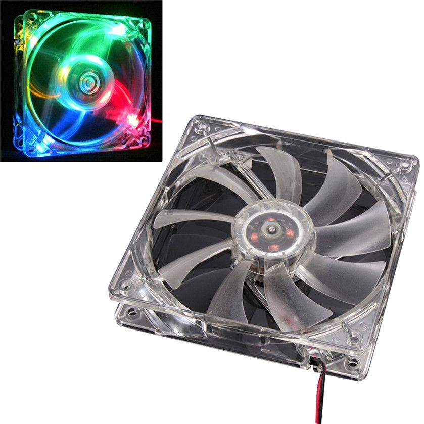 Best Price Colorful Quad 4 Led Light Neon Clear 120mm Pc Computer