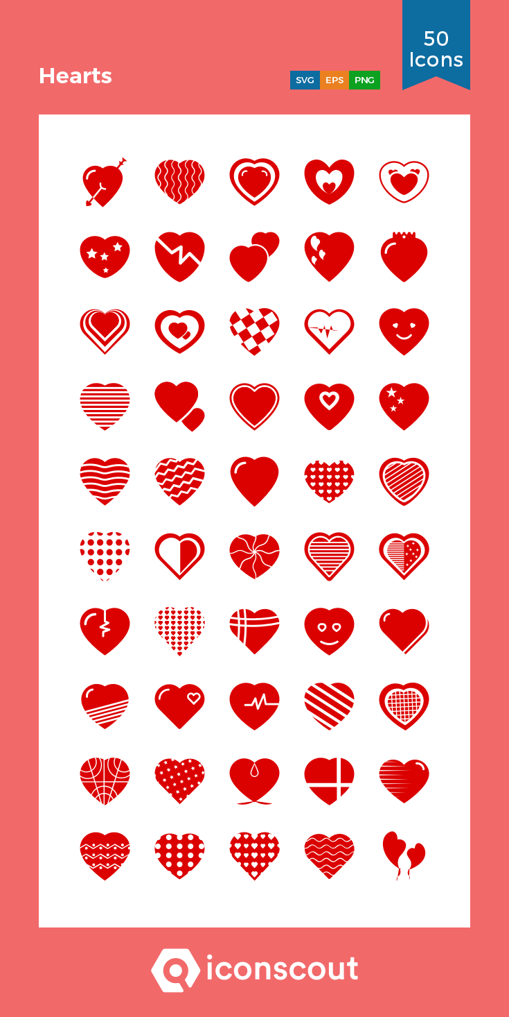 Download Hearts Icon pack Available in SVG, PNG, EPS, AI