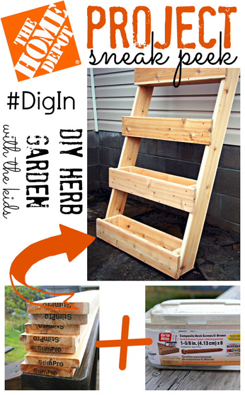 The home depot project sneak peek diy herb garden digin for Home depot jardineria