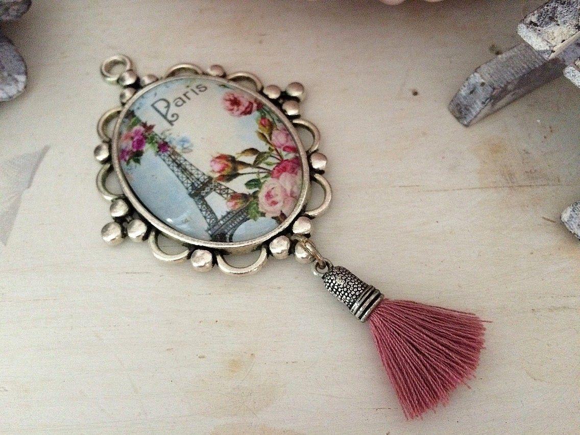 Mini Golden Tour Eiffel Pour Bracelet Collier Pendentif Bijoux À faire soi-même Making