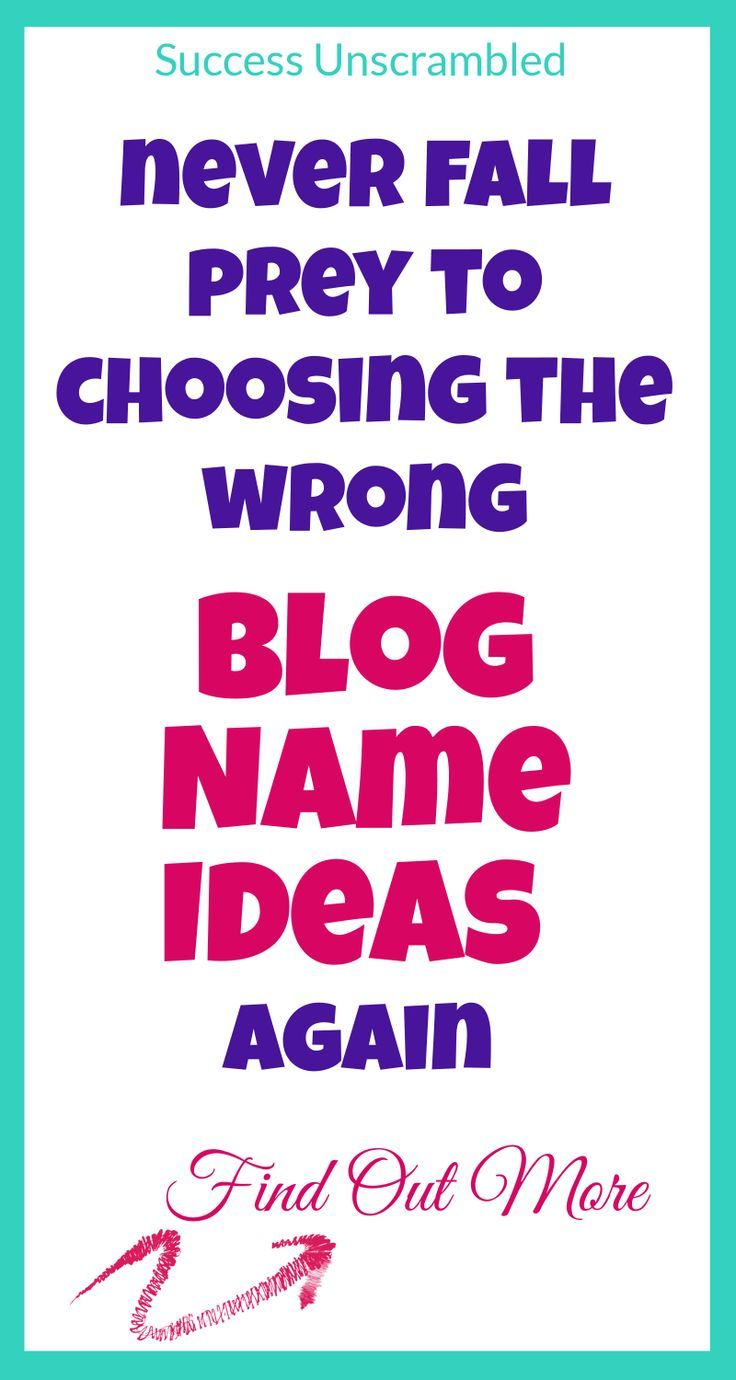 Easily Come Up With Awesome Blog Name Ideas [Examples