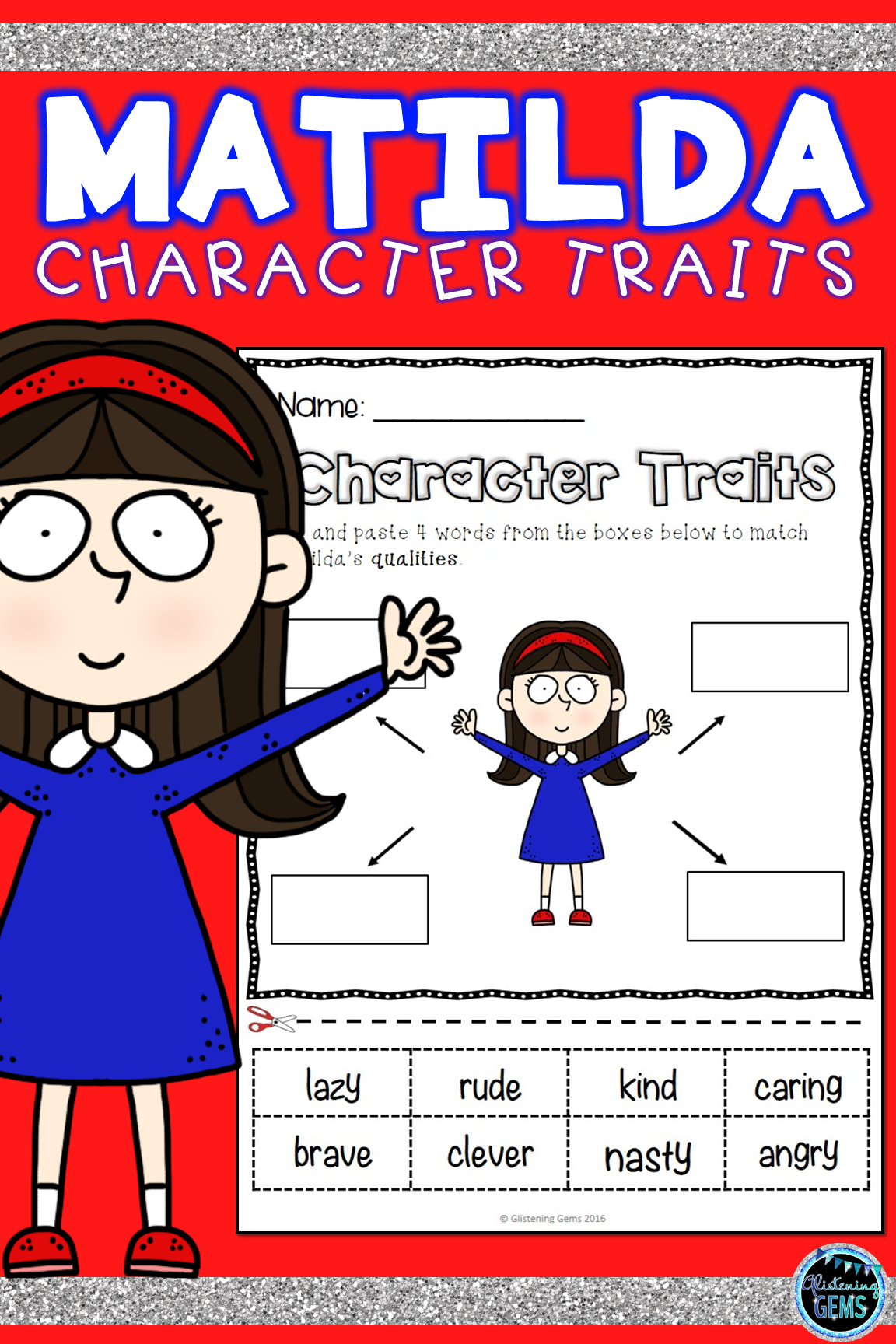 Matilda Character Traits Activities Bundle