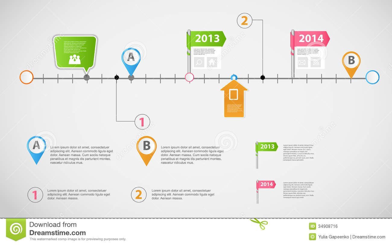 TimelineInfographicBusinessTemplateVectorIllustrationFile