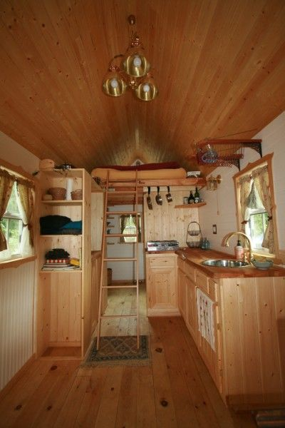 ella shows you her tumbleweed tiny house pictures and video tour - Tumbleweed Tiny House Interior