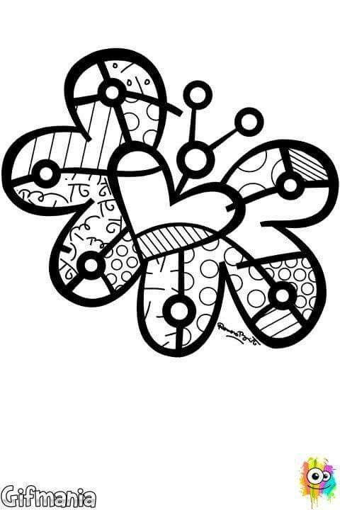 Pin de Shirley Knipp en corazon y mariposa | Pinterest | Britto ...