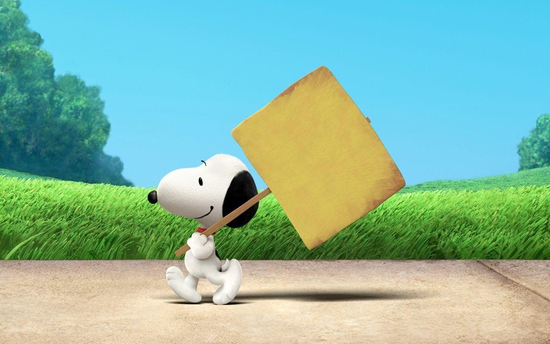 Snoopy the peanuts movie hd wallpaper