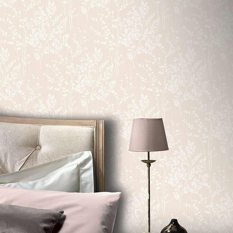 Diamond Fern Pink Wallpaper Dunelm Pink Wallpaper