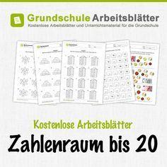 Kostenlose Arbeitsblätter und Unterrichtsmaterial zum Thema Zahlenraum bis 20 im Mathe-Unterricht in der Grundschule.