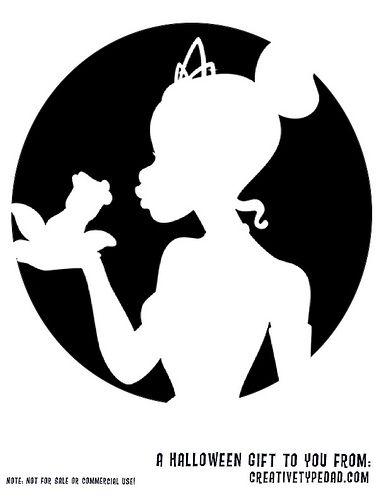 Disney princess silhouette stencils free pumpkin for Pumpkin carving silhouettes