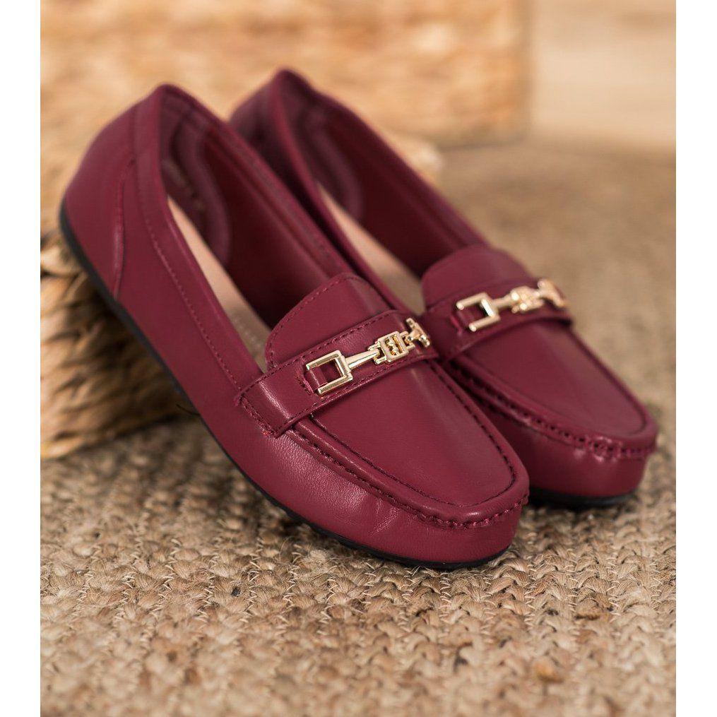 Fama Eleganckie Bordowe Mokasyny Czerwone Wielokolorowe Dress Shoes Men Loafers Men Loafers