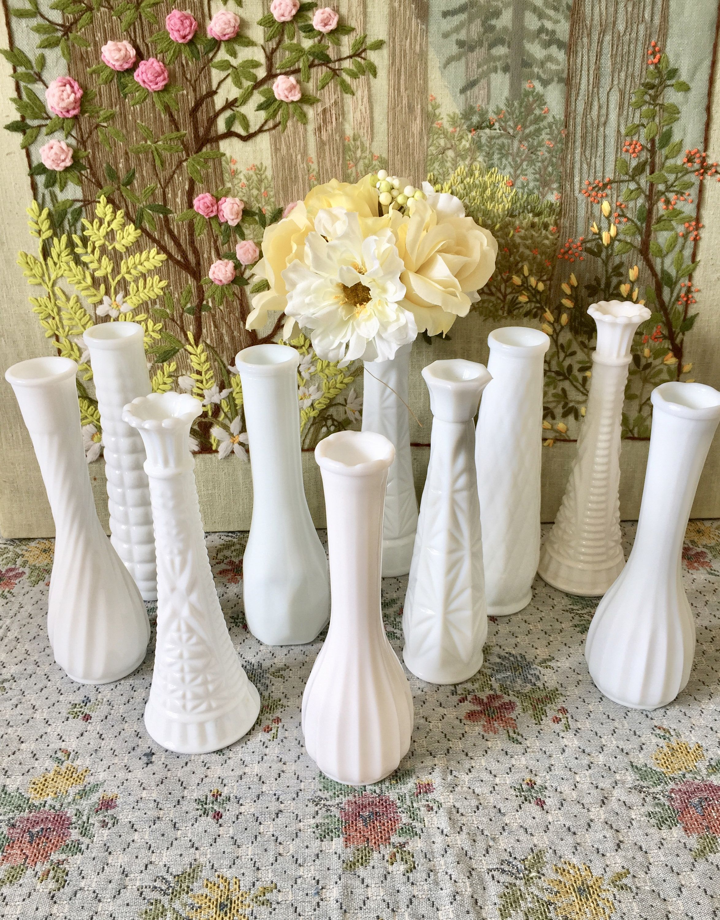 Milk glass vases wedding centerpiece vases for wedding vases vintage milk glass vases wedding centerpiece vases for wedding vases vintage milk glass bud vase white vases bulk vases bridal shower centerpiece by twobecontinued izmirmasajfo