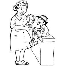 Top 25 Free Printable Nurse Coloring Pages Online Cartoon