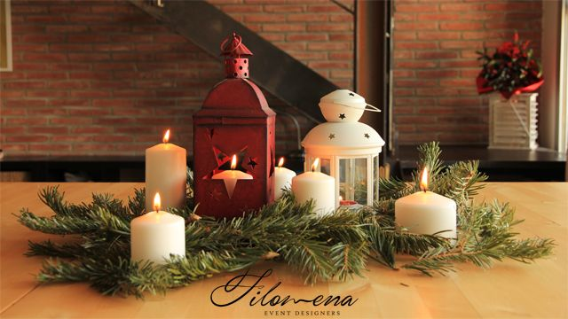 DIY centro mesa navideo Navidad Christmas candles Christmas