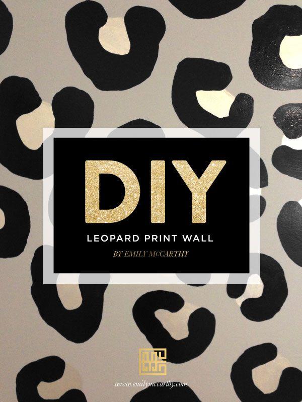 7f9f82664992 DIY LEOPARD PRINT WALL | For the Studio | Leopard print bedroom ...