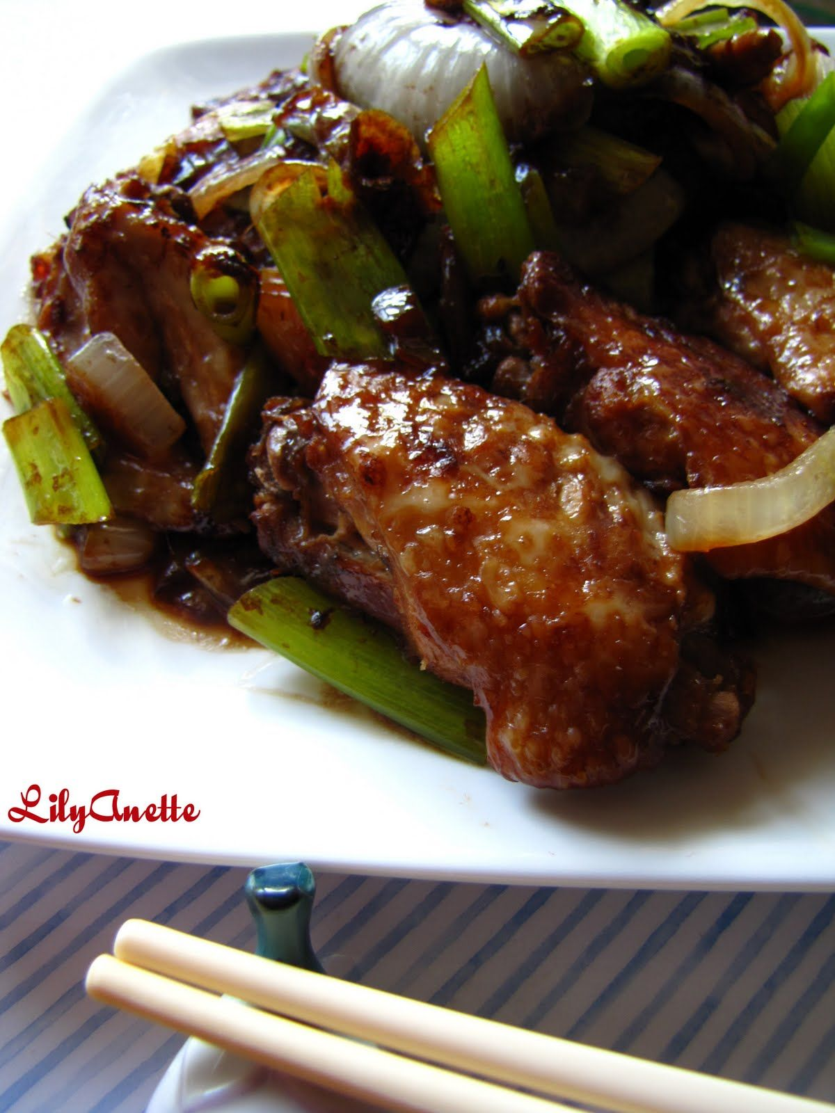 Chinese recipes onion scallion wings easy chinese