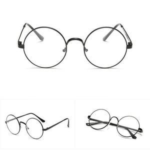 Retro Black Lens Vintage Men Women Round Frame Sunglasses Glasses Eyewear o