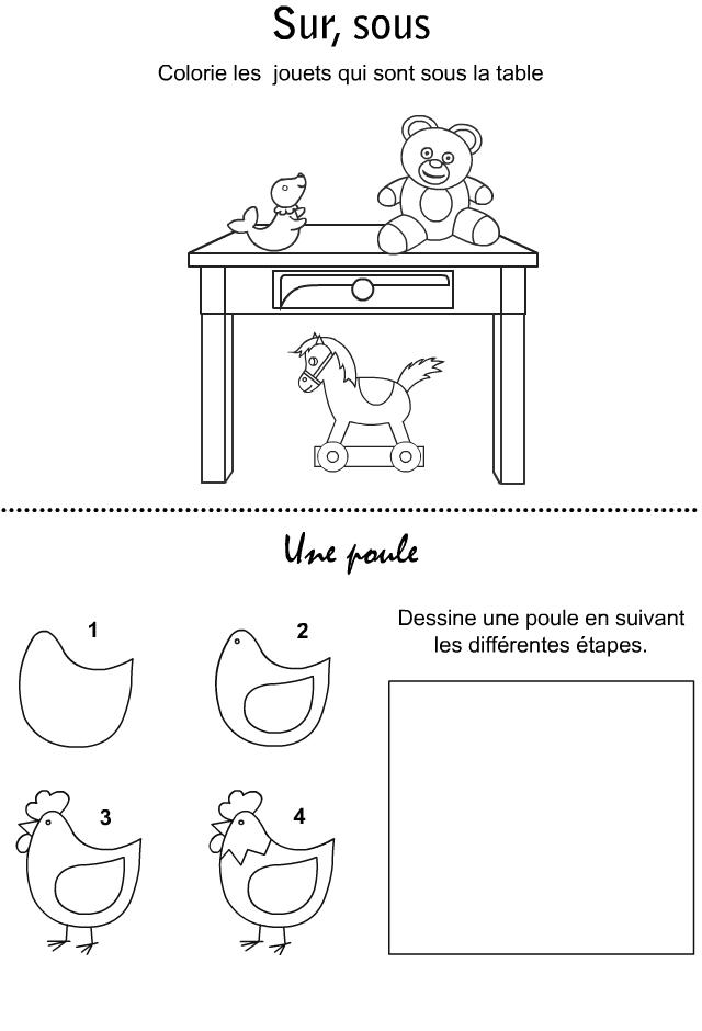 Jeux imprimer dessiner une poule activit garderie - Jeux pour dessiner gratuit ...