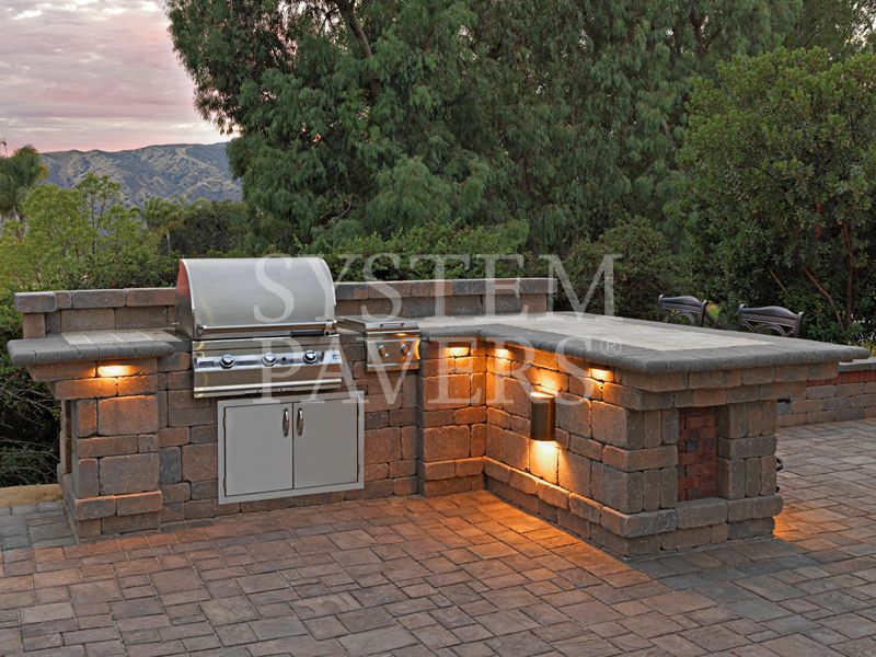 Capri Bbq Island With Lighting Patio Outdoor Decor Home Mansions Homemade