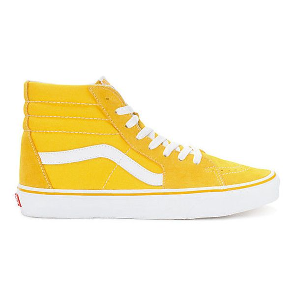 00f7915919 Vans Sk8-Hi Spectra Yellow White Skate Shoes ( 65) ❤ liked on Polyvore  featuring shoes