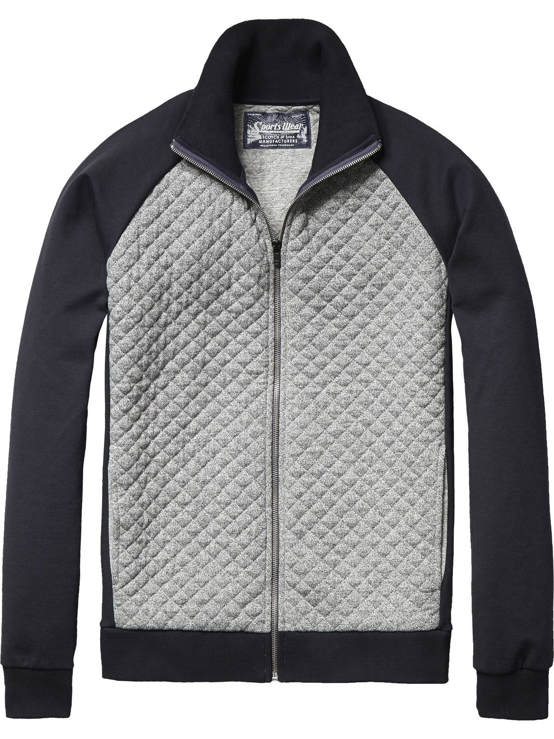 f472c7ac5ea1d Quilted Track Jacket   Jackets   Coats   Men s Clothing at Scotch   Soda