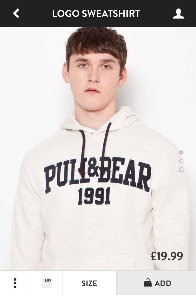 Pull And Bear Mens Hoodies 163 20 Fashion Pinterest