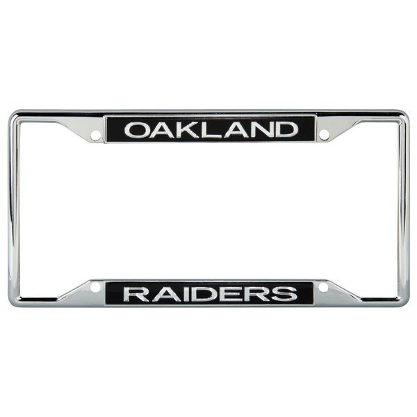 Oakland Raiders Mirror With Color Letters License Plate