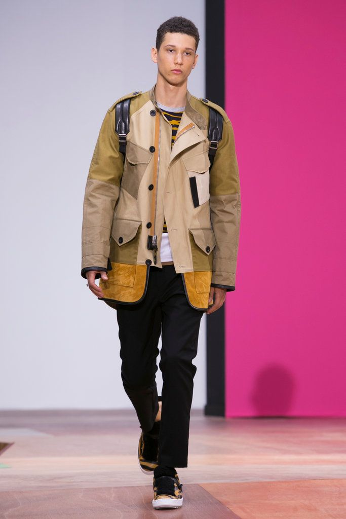 d9175a68f3 A look from the Coach Spring 2016 Menswear collection.