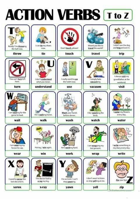 Pin by Nancy Lawrence on Daily routine Pinterest Action verbs