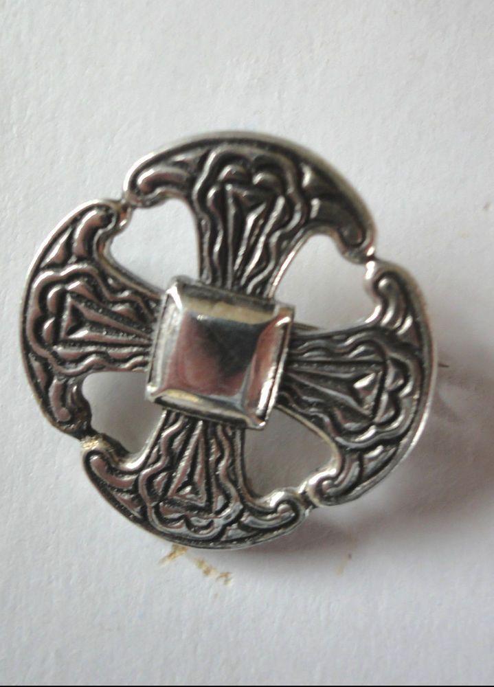 Sterling Silver Celtic Cross Brooch FPVSEVRnx