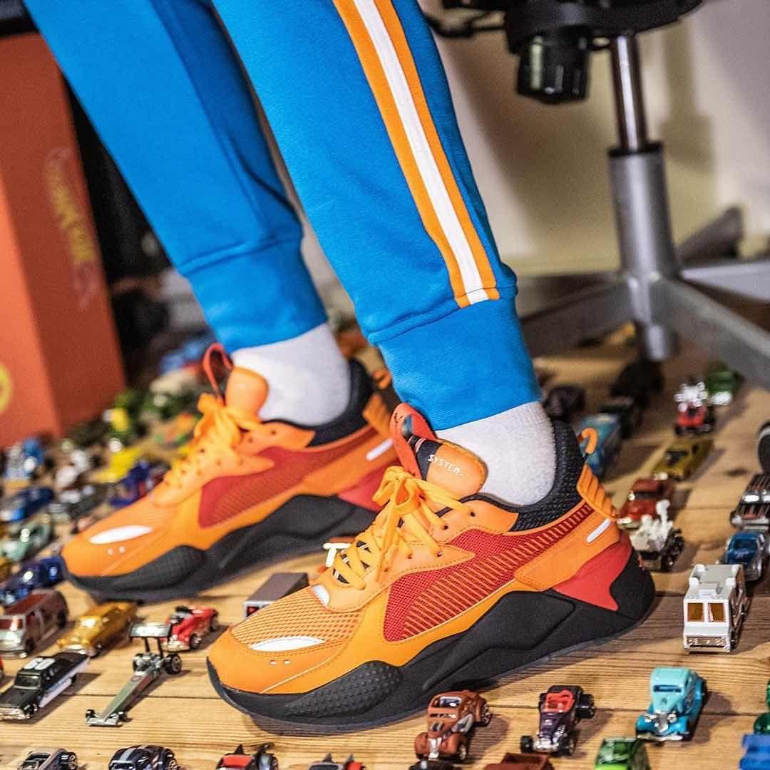 Puma X Hotwheels Rs X Toys Orange Red Black Puma Sneakers