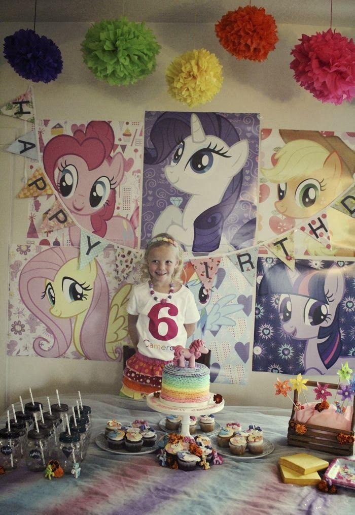 Decoraci n de fiesta de cumplea os de my little pony - Decoracion cumpleanos infantiles ...