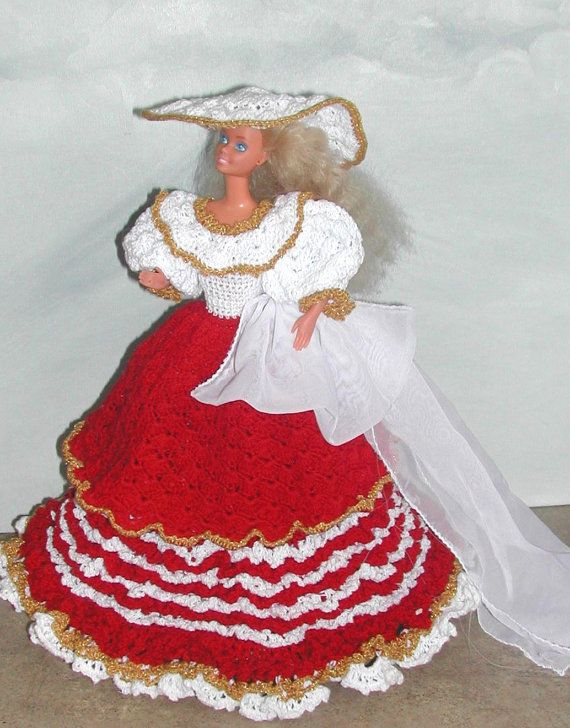 Crochet Fashion Doll Barbie Pattern- #454 HOLIDAY FESTIVE | Barbie ...