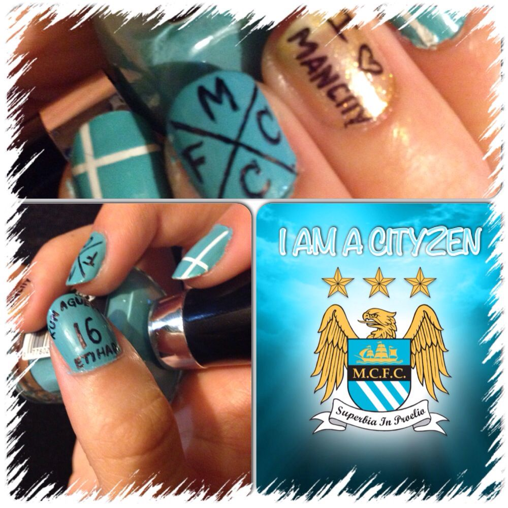 Mcfc I Am Ready For The New Season Let S Go Manchester City I Love You Sergio Kun Aguero Marry Me Please City Nails Soccer Nails Nail Designs