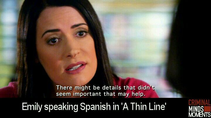 Who could she could speak Spanish until then.
