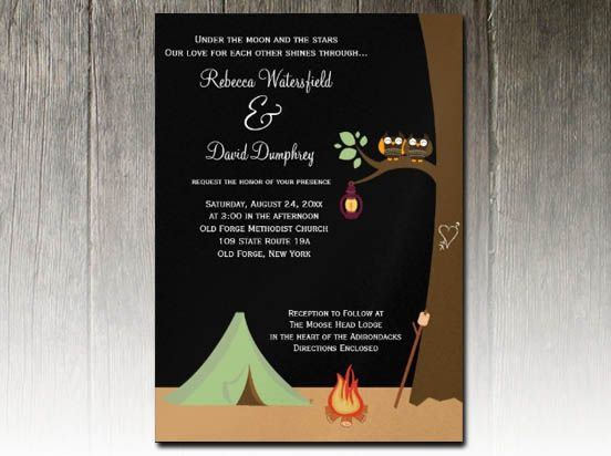 party simplicity campground glamping wedding invitation design challenge camping wedding - Camping Wedding Invitations