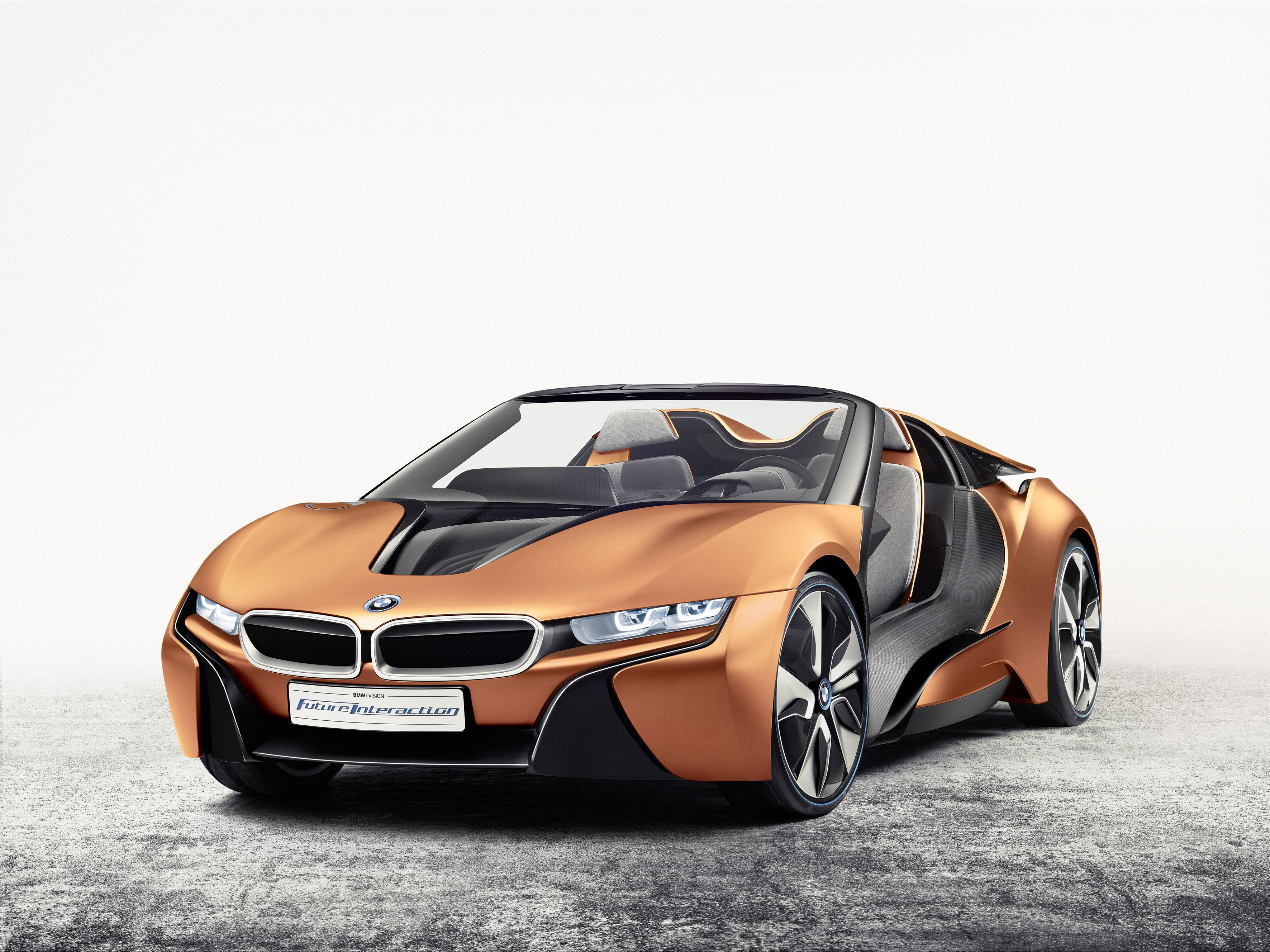 Bmw Unveils Tech Packed I8 Spyder Concept At Ces 2016 Bmw I8