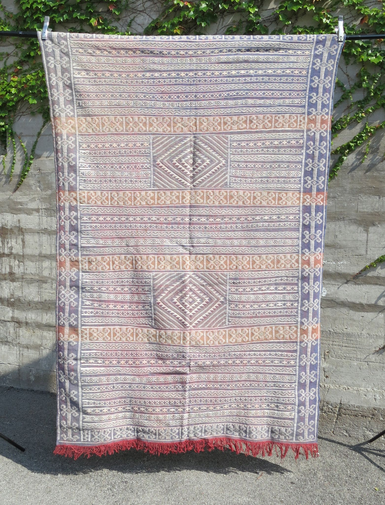 'GOATS IN A TREE' WOVEN BERBER FLAT WEAVE RUG