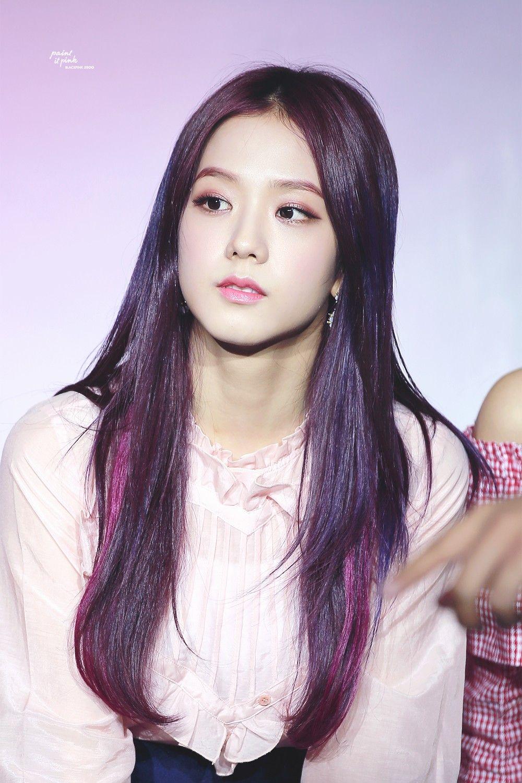 Pin By Barbie Stargirl On Blackpink Jisoo Purple Hair Beauty Blackpink Jisoo