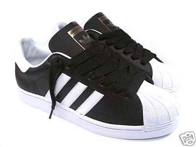 premium selection f923a 004f4 adidas superstar black with white toe
