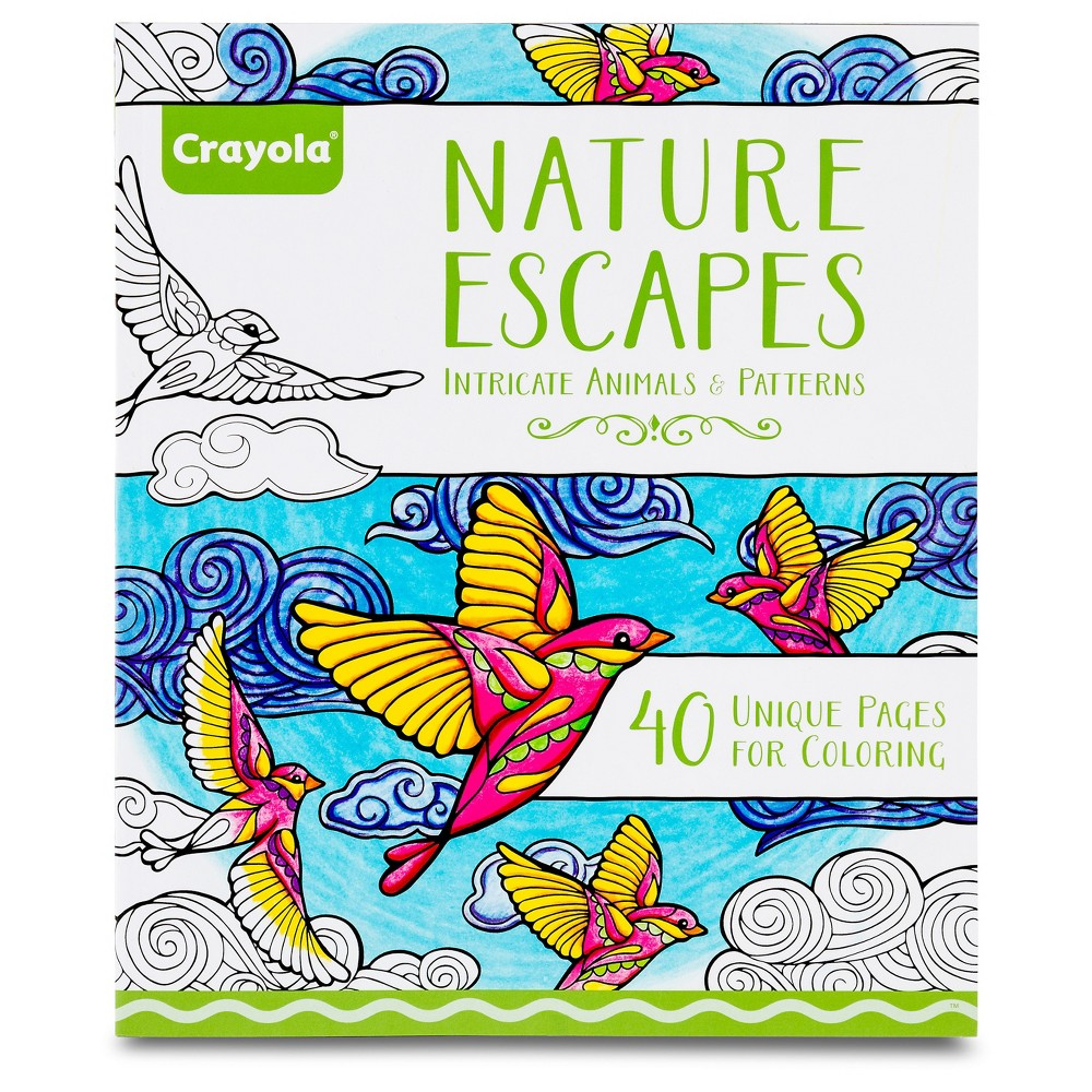 Crayola Adult Coloring Book - Nature Escapes | Products