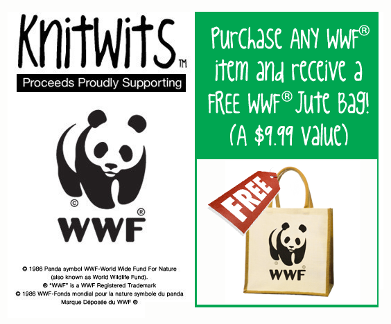 Purchase ANY WWF®  item and receive a WWF® Jute Bag FREE!  (A $9.99 Value)