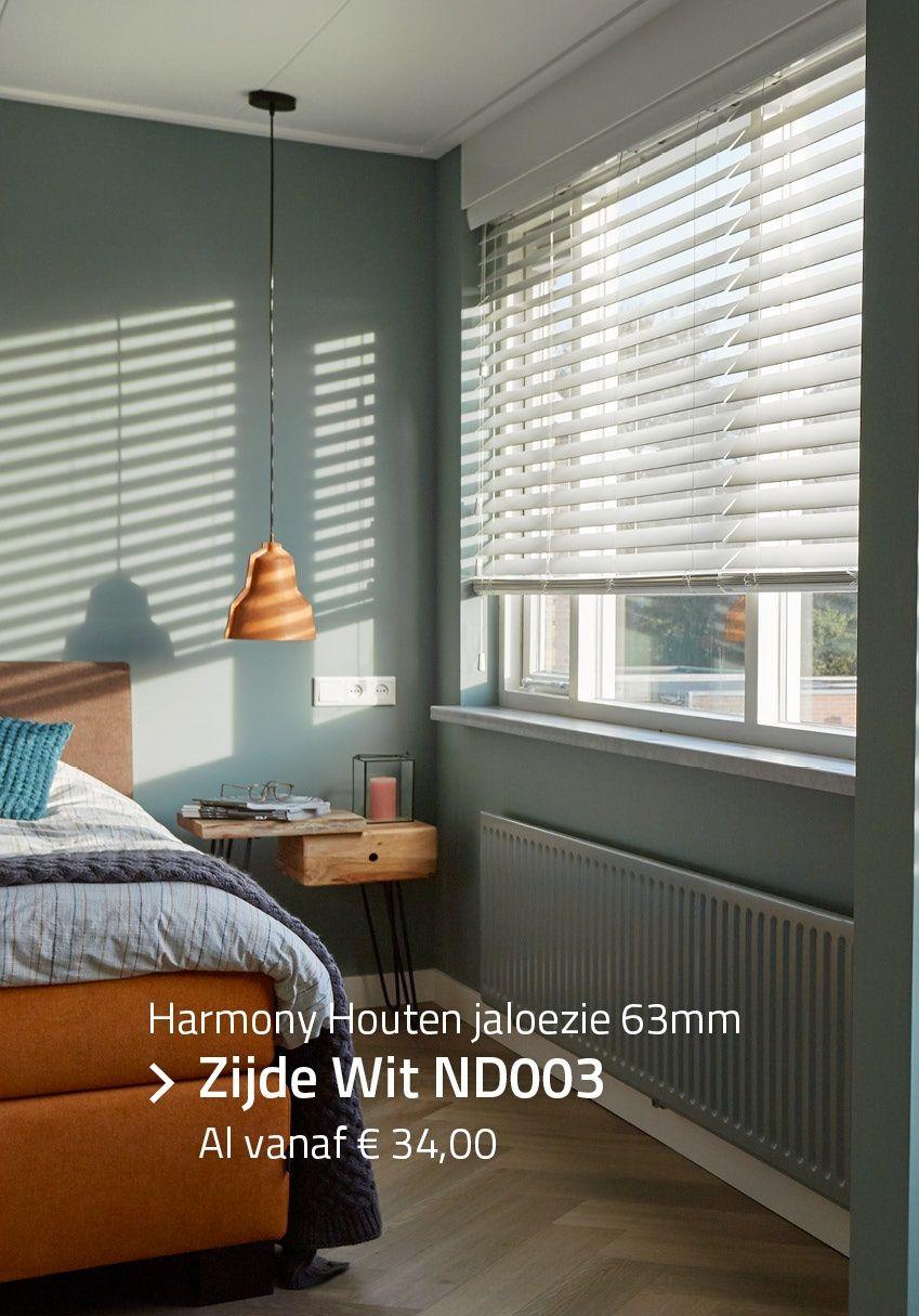 Verrassend Harmony - Houten jaloezie Privacy 63mm - Zijde Wit ND003 | Witte CJ-33
